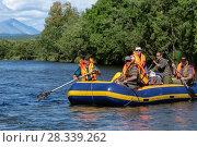 Купить «Летний рафтинг по реке Быстрой на Камчатке», фото № 28339262, снято 25 июля 2016 г. (c) А. А. Пирагис / Фотобанк Лори