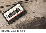 Купить «Vintage audio cassette tape», фото № 28343634, снято 8 апреля 2018 г. (c) Александр Лычагин / Фотобанк Лори