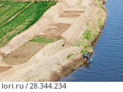 Купить «Aerial view of wheat crop irrigation during severe drought, Hangang, Northern China. March 2009.», фото № 28344234, снято 24 мая 2018 г. (c) Nature Picture Library / Фотобанк Лори