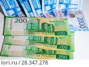 Купить «российские рубли мелкими купюрами», фото № 28347278, снято 29 апреля 2018 г. (c) Момотюк Сергей / Фотобанк Лори