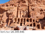 Jordan, Petra, Royal tombs (2016 год). Стоковое фото, фотограф Наталья Волкова / Фотобанк Лори