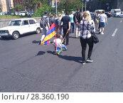 Купить «Улицы Еревана в мае 2018», фото № 28360190, снято 2 мая 2018 г. (c) Агата Терентьева / Фотобанк Лори