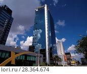Купить «Telefonica Building, Brigadeiro Faria Lima Avenue, Pinheiros, Sao Paulo, Brazil», фото № 28364674, снято 7 марта 2018 г. (c) age Fotostock / Фотобанк Лори