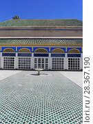 Купить «Courtyard, Bahia Palace, UNESCO World Heritage Site, Marrakesh (Marrakech), Morocco, North Africa, Africa», фото № 28367190, снято 28 марта 2017 г. (c) age Fotostock / Фотобанк Лори