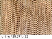 Купить «Corrugated surface of cardboard industrial filter.», фото № 28371482, снято 17 июня 2016 г. (c) Андрей Радченко / Фотобанк Лори