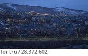 Купить «Ночной вид на город Петропавловск-Камчатский», видеоролик № 28372602, снято 7 мая 2018 г. (c) А. А. Пирагис / Фотобанк Лори