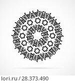 Купить «Vector Black Geometry Mandala over white», иллюстрация № 28373490 (c) Бражников Андрей / Фотобанк Лори