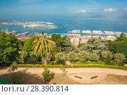 Купить «City park in Vigo, Galicia, Spain. Sunny day in summer», фото № 28390814, снято 25 мая 2019 г. (c) Сергей Цепек / Фотобанк Лори