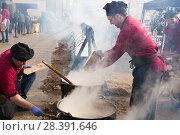 Купить «Feast of escudella, Castelltercol», фото № 28391646, снято 13 февраля 2018 г. (c) Яков Филимонов / Фотобанк Лори