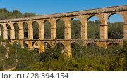 Купить «Pont del Diable, Tarragona», фото № 28394154, снято 31 января 2018 г. (c) Яков Филимонов / Фотобанк Лори