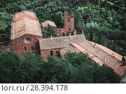 Купить «Castell de Escornalbou lost in mountains of Riudecanyes, Spain», фото № 28394178, снято 24 сентября 2016 г. (c) Яков Филимонов / Фотобанк Лори