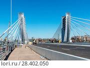 Купить «Пилоны моста Бетанкура. Санкт-Петербург», эксклюзивное фото № 28402050, снято 12 мая 2018 г. (c) Александр Щепин / Фотобанк Лори