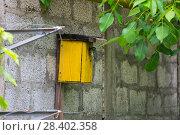 Купить «Синица большая у синичника. Great Tit (Parus major).», фото № 28402358, снято 9 мая 2018 г. (c) Игорь Архипов / Фотобанк Лори