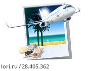 Купить «Commercial passengers airplane», иллюстрация № 28405362 (c) Александр Володин / Фотобанк Лори