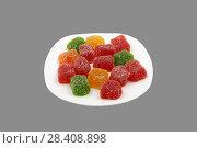Multicolored marmalade on plate. Стоковое фото, фотограф Александр Малышев / Фотобанк Лори