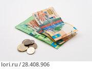 Купить «Paper money and coins», фото № 28408906, снято 6 декабря 2017 г. (c) Александр Малышев / Фотобанк Лори