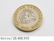 One hundred tenge coin. Стоковое фото, фотограф Александр Малышев / Фотобанк Лори