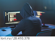 Купить «hacker using computer virus for cyber attack», фото № 28410378, снято 9 ноября 2017 г. (c) Syda Productions / Фотобанк Лори