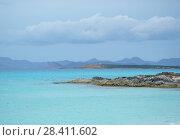 Купить «Turquoise water. Illetes beach in Formentera. Balearic Islands. Spain», фото № 28411602, снято 4 мая 2018 г. (c) Alexander Tihonovs / Фотобанк Лори