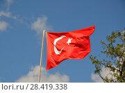 Купить «Государственный флаг Турции», фото № 28419338, снято 12 мая 2018 г. (c) Светлана Колобова / Фотобанк Лори