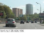 Москва, Рублёвское шоссе (2018 год). Редакционное фото, фотограф Дмитрий Неумоин / Фотобанк Лори