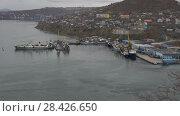 Купить «Рыболовные суда в морском порту Петропавловска-Камчатского», видеоролик № 28426650, снято 16 мая 2018 г. (c) А. А. Пирагис / Фотобанк Лори
