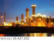 Купить «view of industry plant and river», фото № 28427202, снято 25 марта 2019 г. (c) Яков Филимонов / Фотобанк Лори