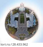 Купить «Санкт-Петербург. Смольный собор. Круговая панорама», эксклюзивное фото № 28433962, снято 10 мая 2018 г. (c) Литвяк Игорь / Фотобанк Лори