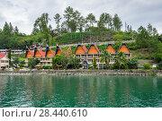 Купить «Lake Toba in the Indonesian island of Sumatra», фото № 28440610, снято 22 января 2017 г. (c) Юлия Белоусова / Фотобанк Лори