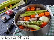 Купить «ingredients for veal stew or blanquette de veau», фото № 28441582, снято 11 мая 2018 г. (c) Oksana Zh / Фотобанк Лори