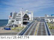 Купить «Harbor, Puttgarden, Fehmarn, Baltic Sea, Schleswig-Holstein, Germany, Europe.», фото № 28447774, снято 27 июня 2019 г. (c) age Fotostock / Фотобанк Лори