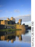 Купить «South West leaning tower at Caerphilly Castle.», фото № 28448190, снято 25 сентября 2015 г. (c) age Fotostock / Фотобанк Лори