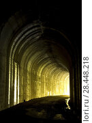 Купить «Tunnel 25, Hiawatha Rail Trail, St Joe National Forest, Idaho.», фото № 28448218, снято 16 августа 2008 г. (c) age Fotostock / Фотобанк Лори