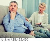 Купить «Mature friends are offended at each other», фото № 28455430, снято 23 марта 2019 г. (c) Яков Филимонов / Фотобанк Лори