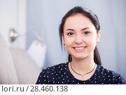 Купить «Positive brown-eyed girl», фото № 28460138, снято 9 апреля 2017 г. (c) Яков Филимонов / Фотобанк Лори