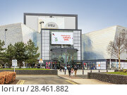 Купить «Front entrance to INTU SOAR sports centre, also known as Escape, Braehead shopping centre, Renfrew, Glasgow, Scotland.», фото № 28461882, снято 31 марта 2018 г. (c) age Fotostock / Фотобанк Лори