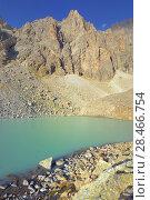 Купить «Lake in mountains», фото № 28466754, снято 21 сентября 2017 г. (c) александр жарников / Фотобанк Лори