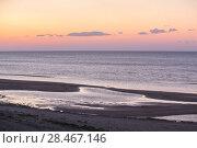 Купить «Sunset on sea. Seashore.», фото № 28467146, снято 19 сентября 2019 г. (c) Юрий Бизгаймер / Фотобанк Лори