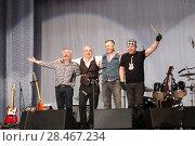 Купить «Владимир Шахрин и группа Чайф на сцене», фото № 28467234, снято 26 мая 2018 г. (c) Юлия Юриева / Фотобанк Лори