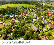 Купить «The aerial view of countryside near Moscow, Russia», фото № 28469074, снято 26 мая 2018 г. (c) Володина Ольга / Фотобанк Лори