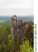 Купить «Национальный парк Саксонская Швейцария. Германия.», фото № 28469362, снято 3 мая 2018 г. (c) Воробьева Анна / Фотобанк Лори