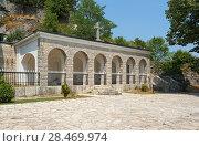 Купить «Shrine with the relics of  St. Peter Cetinje», фото № 28469974, снято 10 августа 2017 г. (c) Алексей Голованов / Фотобанк Лори