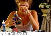 Купить «Wedding memories. Broken heart woman. Family break up.», фото № 28470578, снято 16 октября 2018 г. (c) Gennadiy Poznyakov / Фотобанк Лори
