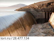 Купить «Water flowing out of the Karahnjukar dam and Halslon reservoir, a massive new controversial hydro electricity project in North East Iceland. It was created...», фото № 28477134, снято 20 августа 2018 г. (c) Nature Picture Library / Фотобанк Лори