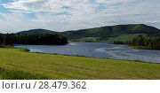 Купить «Scenic view of a river, Ceilidh Trail, Cape Breton Island, Nova Scotia, Canada», фото № 28479362, снято 11 июня 2016 г. (c) Ingram Publishing / Фотобанк Лори