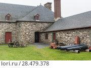 Купить «Cannons at Fortress of Louisbourg, Louisbourg, Cape Breton Island, Nova Scotia, Canada», фото № 28479378, снято 13 июня 2016 г. (c) Ingram Publishing / Фотобанк Лори