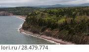 Купить «Scenic view of coastline, Ingonish, Cabot Trail, Cape Breton Island, Nova Scotia, Canada», фото № 28479774, снято 12 июня 2016 г. (c) Ingram Publishing / Фотобанк Лори