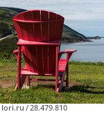 Купить «Adirondack chair at coast, Petit Etang, Cape Breton Highlands National Park, Cape Breton Island, Nova Scotia, Canada», фото № 28479810, снято 12 июня 2016 г. (c) Ingram Publishing / Фотобанк Лори