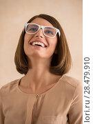 Купить «Elegant woman with glasses», фото № 28479910, снято 18 января 2014 г. (c) Ingram Publishing / Фотобанк Лори