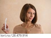 Купить «Elegant woman with glasses», фото № 28479914, снято 18 января 2014 г. (c) Ingram Publishing / Фотобанк Лори